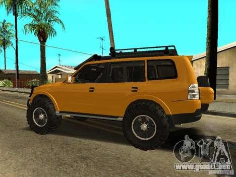Mitsubishi Pajero OffRoad v2 para GTA San Andreas left