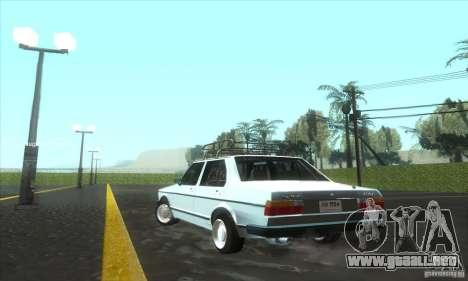 Volkswagen Jetta MK1 para GTA San Andreas vista posterior izquierda