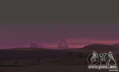 La Torre Eiffel de Call of Duty Modern Warfare 3 para GTA San Andreas sucesivamente de pantalla