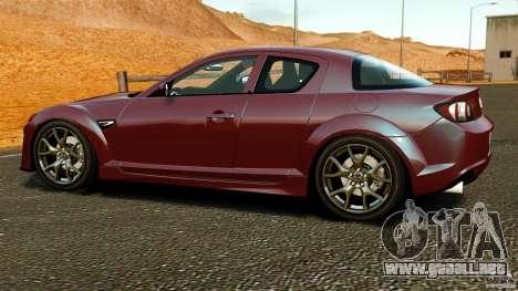 Mazda RX-8 R3 2011 para GTA 4 left