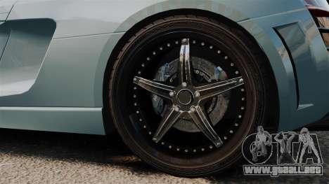 Audi R8 Spider Body Kit para GTA 4 vista hacia atrás