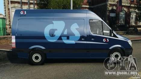 Mercedes-Benz Sprinter G4S ES Cash Transporter para GTA 4 left