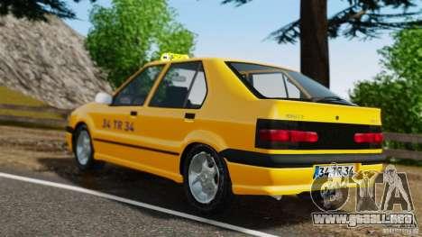 Taxi Renault 19 para GTA 4 Vista posterior izquierda