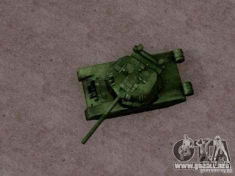 T-80 para GTA San Andreas vista posterior izquierda