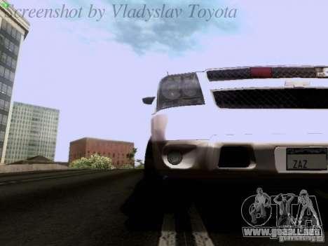 Chevrolet Avalanche 2007 para visión interna GTA San Andreas