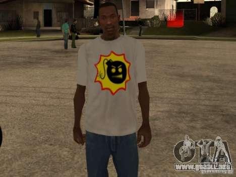 Nueva camiseta para GTA San Andreas tercera pantalla
