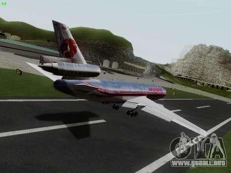 McDonell Douglas DC-10-30 Hawaiian para GTA San Andreas vista posterior izquierda
