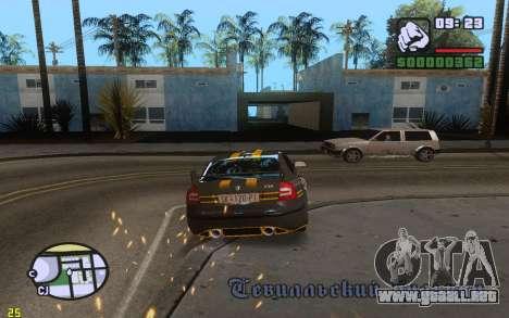 ENBSeries By VadimSpiridonov v.0.2 para GTA San Andreas segunda pantalla