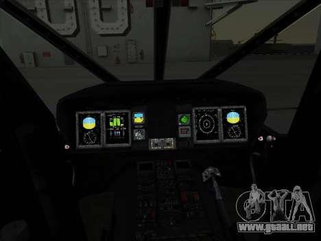 MH-X Stealthhawk para GTA San Andreas vista hacia atrás