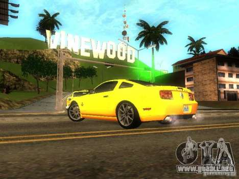 Ford Shelby GT 2008 para GTA San Andreas left
