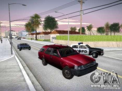 Nissan Bluebird Wagon para GTA San Andreas vista hacia atrás