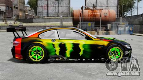 BMW M3 (E90) 2008 Monster Energy v1.2 para GTA 4 left