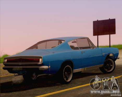 Plymouth Barracuda 1968 para GTA San Andreas left
