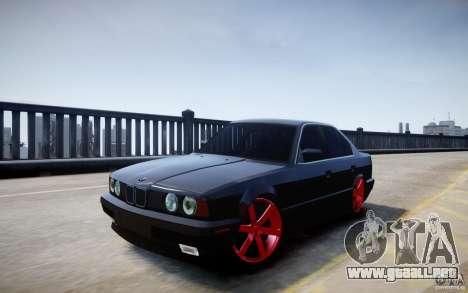 BMW 535i para GTA 4 vista hacia atrás