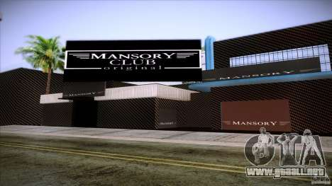 Mansory Club Transfender & PaynSpray para GTA San Andreas