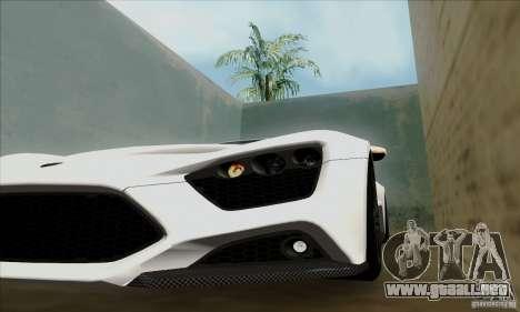 Zenvo ST1 2010 para GTA San Andreas vista posterior izquierda