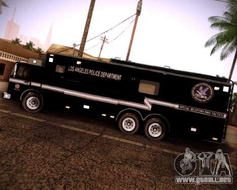 Pierce Contendor LAPD SWAT para la visión correcta GTA San Andreas