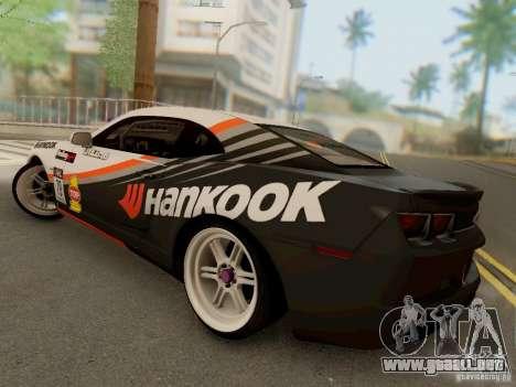 Chevrolet Camaro Hankook Tire para GTA San Andreas vista posterior izquierda