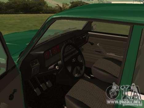 VAZ 2107 1988 para la visión correcta GTA San Andreas