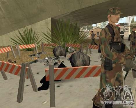 Escena del crimen (escena del crimen) para GTA San Andreas quinta pantalla