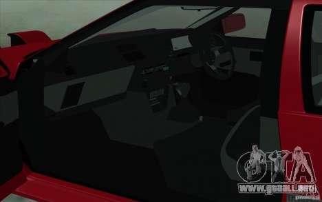 Toyota Corolla AE86 para GTA San Andreas vista posterior izquierda