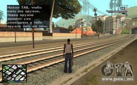 GTA V Interface para GTA San Andreas tercera pantalla