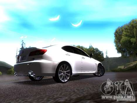 Lexus IS F para la visión correcta GTA San Andreas