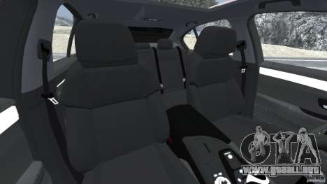 BMW M5 2012 para GTA 4 vista interior