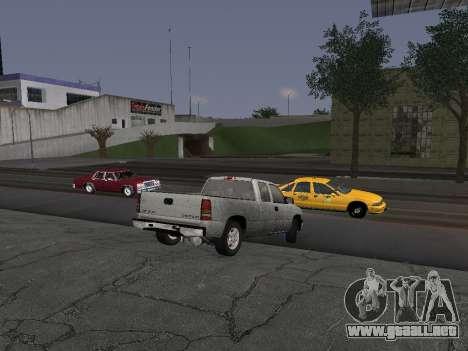 Chevorlet Silverado 2000 para GTA San Andreas vista hacia atrás