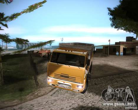 KAMAZ 65117 para GTA San Andreas vista posterior izquierda