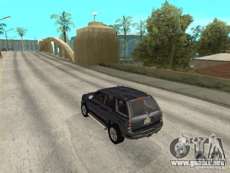 Chevrolet TrailBlazer 2003 para GTA San Andreas vista posterior izquierda