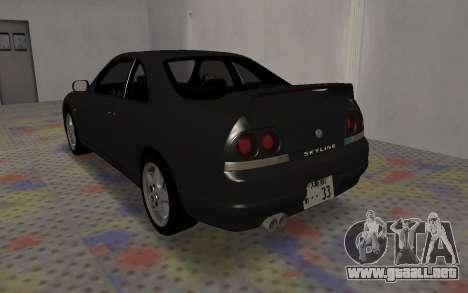 Nissan Skyline GTS25T (R33) para GTA San Andreas vista posterior izquierda
