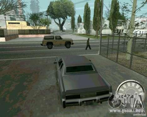 Velocímetro Mustang clásico para GTA San Andreas segunda pantalla