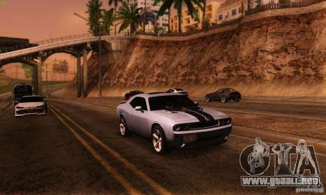 Dodge Challenger SRT-8 para GTA San Andreas vista hacia atrás