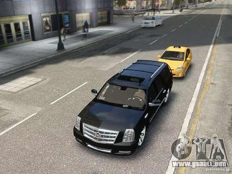 Cadillac Escalade ESV 2012 DUB para GTA 4 vista hacia atrás