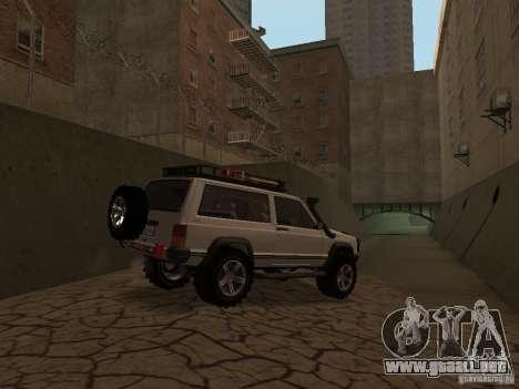 Jeep Cherokee Sport para GTA San Andreas vista hacia atrás
