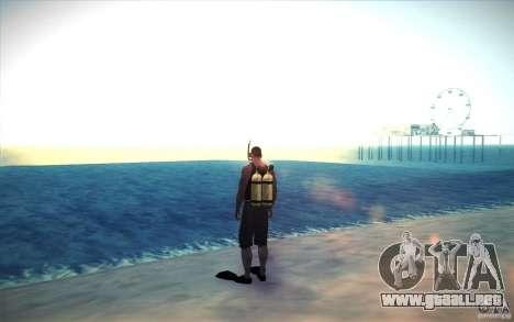 Tanque de buceo para GTA San Andreas segunda pantalla