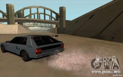 Lancia Delta Integrale para GTA San Andreas vista posterior izquierda