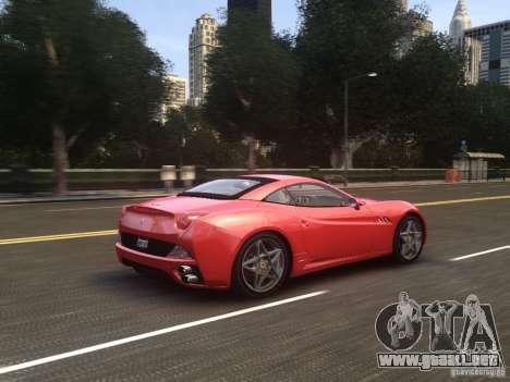 Ferrari California 2009 para GTA 4 vista superior
