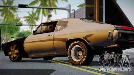 Chevrolet Chevelle SS 454 1970 para la visión correcta GTA San Andreas