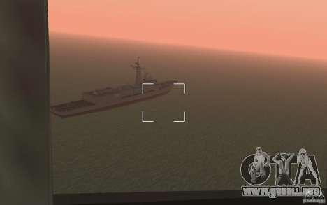 CSG-11 para GTA San Andreas sucesivamente de pantalla