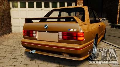 BMW M3 E30 Stock 1991 para GTA 4 Vista posterior izquierda