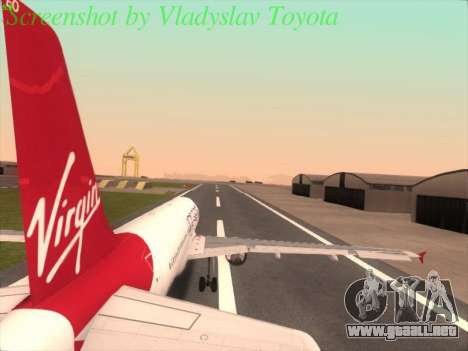 Airbus A320-211 Virgin Atlantic para GTA San Andreas left