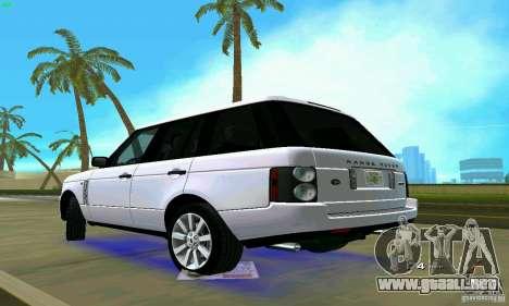 Land Rover Range Rover Supercharged 2008 para GTA Vice City left