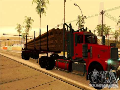 Trailer, Western Star 4900 para GTA San Andreas left