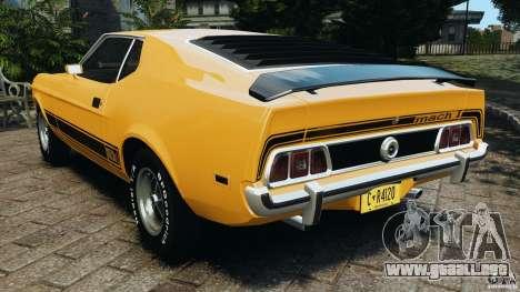 Ford Mustang Mach 1 1973 v2 para GTA 4 Vista posterior izquierda