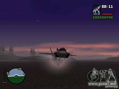 Cohete para GTA San Andreas tercera pantalla