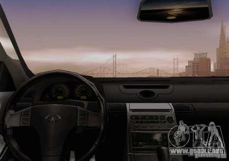 Infiniti G35 para vista inferior GTA San Andreas