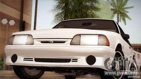 Ford Mustang SVT Cobra 1993 para el motor de GTA San Andreas