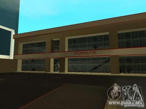 Salón del automóvil de Porsche para GTA San Andreas segunda pantalla